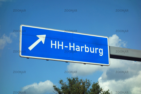 Federal Motorway Exit Hamburg Harburg