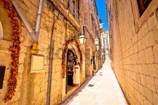 Dubrovnik romantic narrow street view