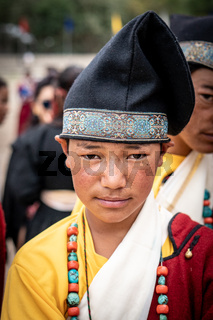 Indigenous young Indian man on festival