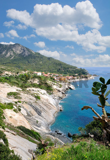 Urlaubsort Pomonte auf der Insel Elba,Toskana,Mittelmeer,Italien