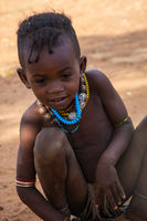 Hamer tribe kid playing, Omo valley