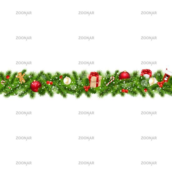 Christmas Border With Gift Box
