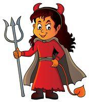 Girl in devil costume image 1