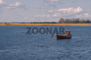 Fischerboot auf der Insel Ummanz