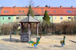 Reihenhaussiedlung mit Spielplatz