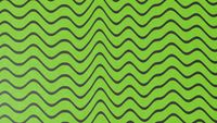Abstract green color wave pattern with black lines. 3d illustration