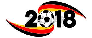 Fußball 2018 WM Banner mit Deutschland Flagge