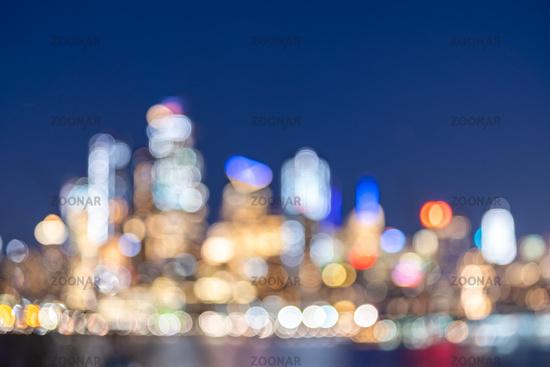 Blurred background New York