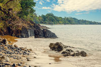 beach in Masoala forest reserve, Madagascar