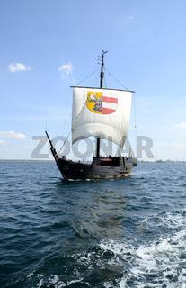 Kogge Wissemara auf der Ostsee