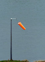 Wind Sock on Harbour wall.