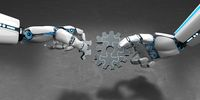 Humanoid Robot Gear Wheel Puzzle