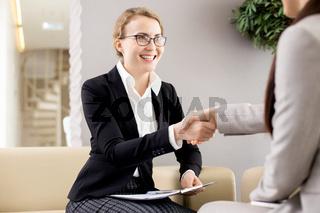 Firm Handshake of Business Partners