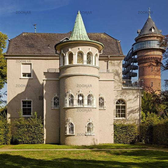 Styrum Castle and Aquarius water museum , Muelheim/Ruhr, Ruhr area, Germany, Europe