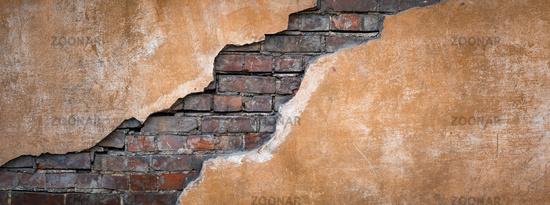 Old grunge brick wall. Nice vintage background.