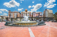 Panoramic view at the Marina place in Malaga, Spain.