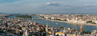 Aerial Panorama of Margaret Island, Budapest, Hungary