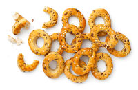 Mini Bagel Snacks With Provencal Herbs