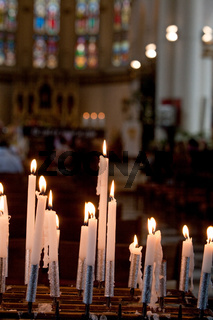 Candles burning in the Church