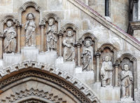 Facade of Jak Church in Budapest