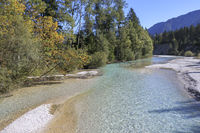Autumn on the Isar, Germany's last wild river
