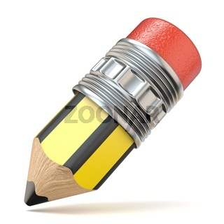 Yellow black cartoon pencil 3D
