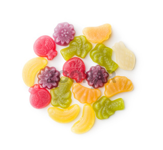 Fruit jelly candies.