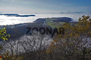 Nebel überm Albvorland