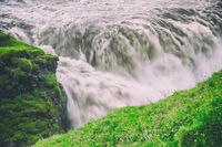 Gullfoss Waterfalls in Iceland on a cloudy day