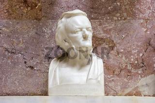 Richard Wagner in der Walhalla, Bayern, Deutschland