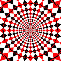 optical illusion fake spiral background