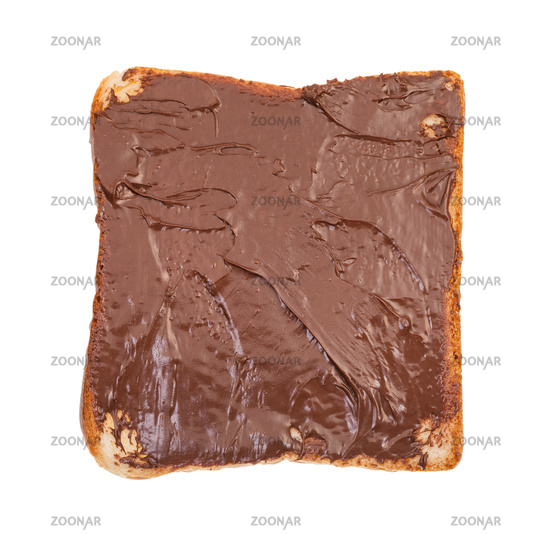sandwich with toast and cocoa and hazelnut spread