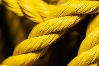 Yellow nylon rope