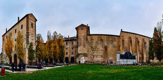 Piazzale della Pace in center of Parma, Italy