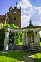 War memorial in front of Church, Linum, Brandenburg, Germany