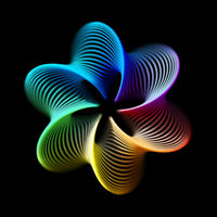 3D abstract creative background or decoration element.