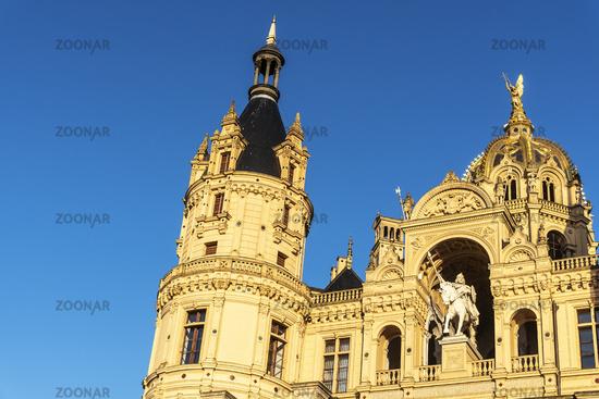 Schwerin castle, Schwerin, Mecklenburg-Western Pomerania, Germany, Europe