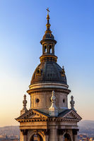 Side tower of St. Stephen's Basilica in Budapest
