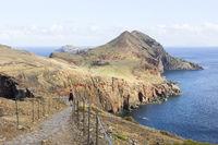 Volcanic landscape at Cape Ponta de Sao Lourenco on Madeira island, Portugal