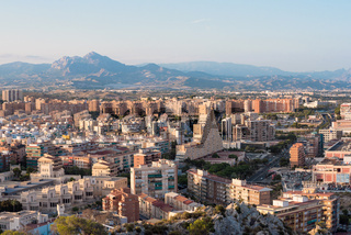 Alicante cityscape aerial view. Spain.
