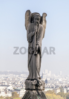Archangel Gabriel on the roof of Notre-Dame de Paris