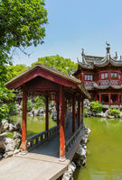 Yuyuan garden (Garden of Happiness) in center of Shanghai China