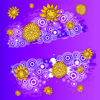 Floral design. Hand drawn, vector stock.