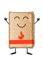 bag of wood pellets mascot cartoon. isoalated on white