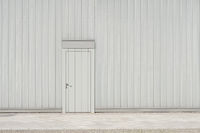 wall and door on street - building facade and entrance door with copy space -