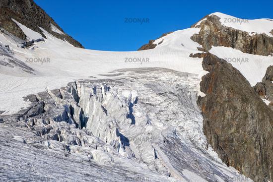 Glacier at the Sustenhorn in Switzerland