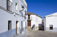 Typical old and white Spanish village.