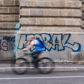Radfahrer und Moral im Verkehr