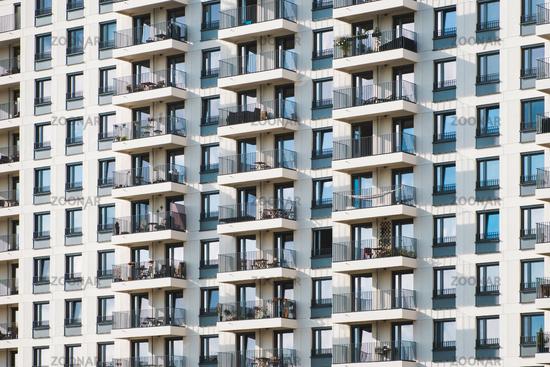 building facade -  modern apartment  house exterior