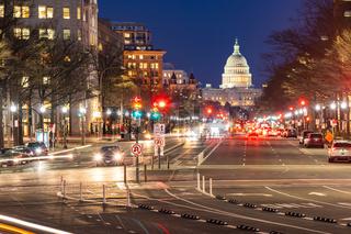 US Capitol Building Sunset